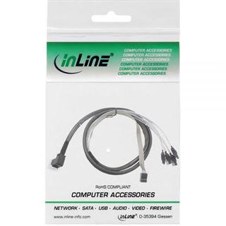 (€53,80*/1m) 0.50m InLine SAS 6Gb/s Adapterkabel SFF-8643