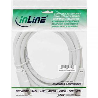 2.00m InLine Antennenkabel IEC-Stecker auf IEC-Stecker Weiß