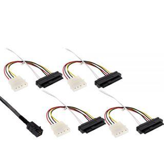 (€87,80*/1m) 0.50m InLine SAS 6Gb/s Anschlusskabel SFF-8643