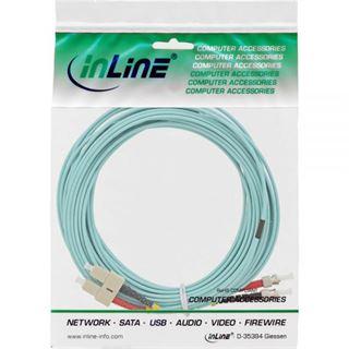 (€1,29*/1m) 10.00m InLine LWL Duplex Patchkabel 50/125 µm