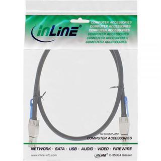 (€85,90*/1m) 1.00m InLine SAS 12Gb/s Anschlusskabel SFF-8644