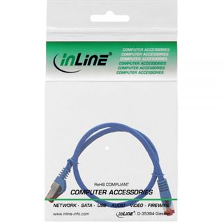 (€15,60*/1m) 0.25m InLine Cat. 6 Patchkabel S/FTP PiMF RJ45