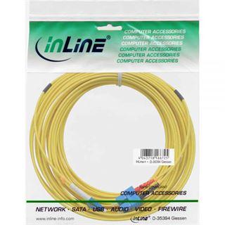(€0,79*/1m) 15.00m InLine LWL Duplex Patchkabel 9/125 µm