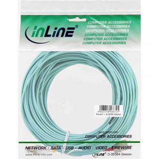 25.00m InLine LWL Duplex Patchkabel 50/125 µm OM3 LC Stecker