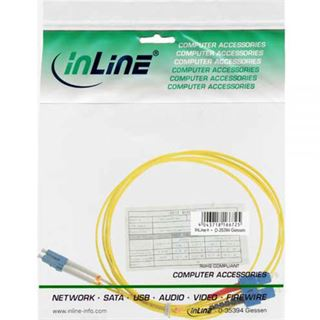 (€4,45*/1m) 2.00m InLine LWL Duplex Patchkabel 9/125 µm