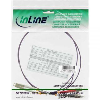 (€8,90*/1m) 1.00m InLine LWL Duplex Patchkabel 50/125 µm