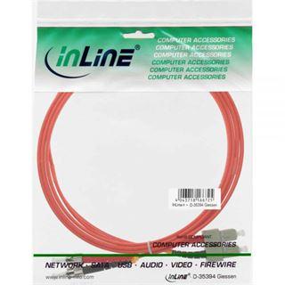 (€19,80*/1m) 0.50m InLine LWL Duplex Patchkabel 50/125 µm