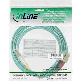 10.00m InLine LWL Duplex Patchkabel 50/125 µm OM3 LC Stecker