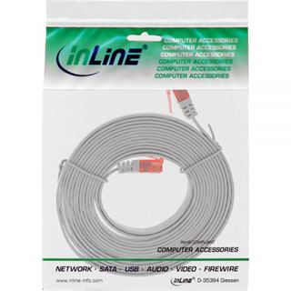 (€1,95*/1m) 2.00m InLine Cat. 6 Patchkabel flach U/UTP RJ45