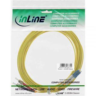 10.00m InLine LWL Duplex Patchkabel 9/125 µm OS2 LC Stecker auf
