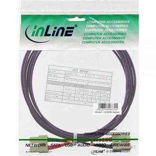 5.00m InLine LWL Duplex Patchkabel 50/125 µm OM4 SC Stecker auf