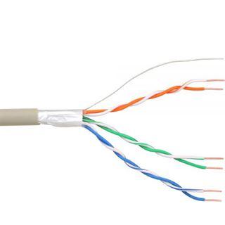 100.00m InLine Telefon Verlegekabel 6-adrig ohne Stecker Grau Rolle