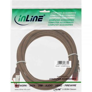 (€0,48*/1m) 25.00m InLine Cat. 6 Patchkabel S/FTP PiMF RJ45