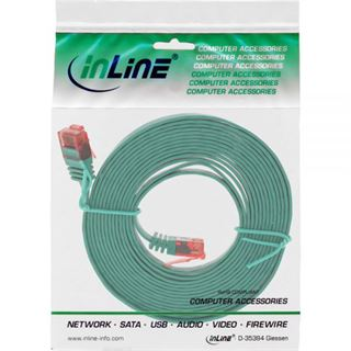 (€0,79*/1m) 10.00m InLine Cat. 6 Patchkabel flach U/UTP RJ45
