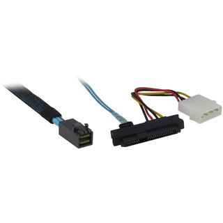 (€41,28*/1m) 0.50m Inter-Tech SAS Adapterkabel SFF-8643 Stecker