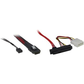 (€45,50*/1m) 0.50m Inter-Tech SAS Adapterkabel SFF-8087 Stecker