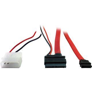 (€16,33*/1m) 0.30m Inter-Tech SATA Anschlusskabel SATA Stecker +