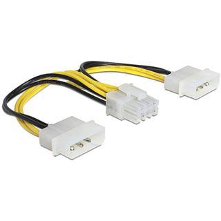 (€26,00*/1m) 0.15m Delock Stromkabel Adapter 2x Molex Stecker