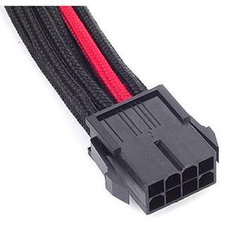 Silverstone EPS 8-Pin zu EPS/ATX 4+4-Pin Kabel, 300mm - schwarz/rot