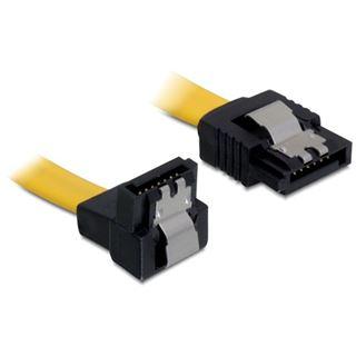 (€39,00*/1m) 0.10m Delock SATA 6Gb/s Anschlusskabel gewinkelt