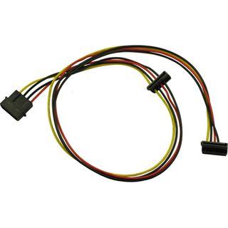 (€6,00*/1m) 0.65m Inter-Tech SATA Adapterkabel gewinkelt unten