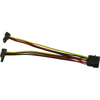 (€26,00*/1m) 0.15m Inter-Tech SATA Stromadapterkabel gewinkelt