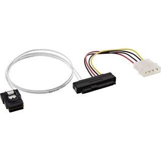 (€23,80*/1m) 0.50m InLine SAS Anschlusskabel SFF-8087 Stecker