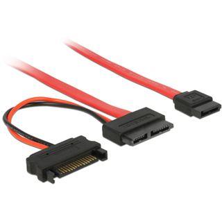 0.70m Delock SATA Anschlusskabel SATA Stecker + Strom auf SATA