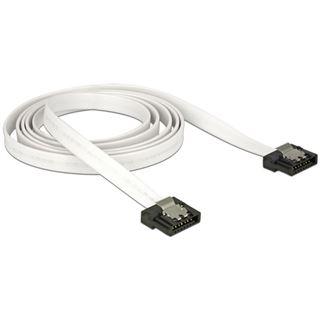 (€6,90*/1m) 1.00m Delock SATA Anschlusskabel Flexi SATA Stecker