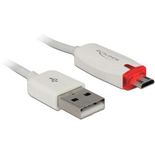 (€7,90*/1m) 1.00m Delock USB2.0 Anschlusskabel USB A Stecker auf