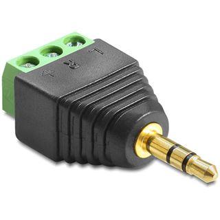 Delock Audio Adapter 3.5mm Klinken-Stecker auf 3pin Terminalblock