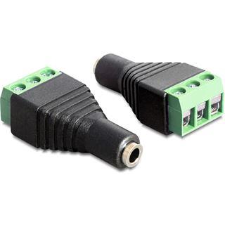 Delock Audio Adapter 3.5mm Klinke Buchse auf 3pin Terminalblock