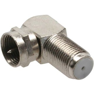 InLine F-Winkeladapter, F-Stecker / F-Buchse, Metall