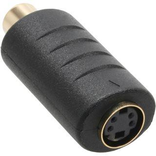 InLine S-VHS Adapter, Cinch Buchse an 4pol Mini Din Buchse vergoldete