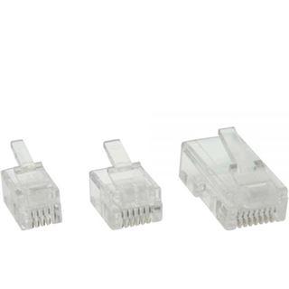 InLine Modularstecker, 8P8C RJ45 zum Crimpen auf Flachkabel (ISDN),