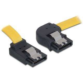 0.50m Delock SATA 6Gb/s Anschlusskabel gewinkelt links SATA Stecker