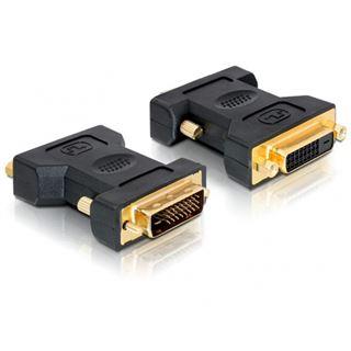 Delock DVI-D Adapter DVI 24+1 Stecker auf DVI 24+1 Buchse Schwarz