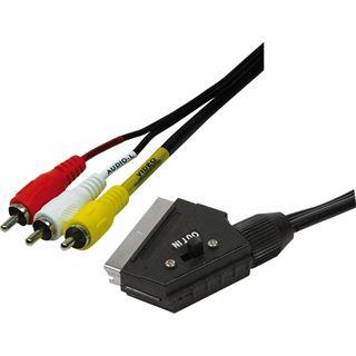 (€3,45*/1m) 2.00m LogiLink SCART Anschlusskabel Scart Stecker