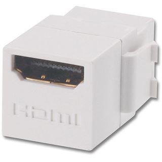 Lindy HDMI Adapter Keystone HDMI-Buchse auf HDMI-Buchse Weiß