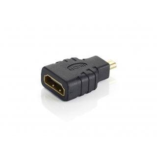 Equip HDMI Adapter HDMI Typ D Stecker auf HDMI-Buchse Schwarz