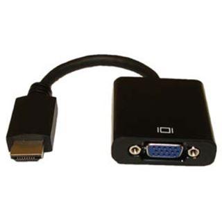 Fujitsu HDMI Adapter HDMI-Stecker auf VGA 15pol Buchse Schwarz