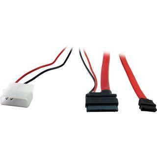 (€13,17*/1m) 0.60m Inter-Tech SATA Anschlusskabel SATA Stecker +