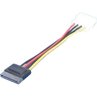 (€26,00*/1m) 0.15m LogiLink SATA Adapterkabel Molex-Stecker auf