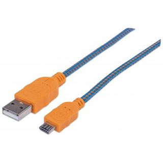 (€2,72*/1m) 1.80m Manhattan USB2.0 Anschlusskabel USB A Stecker