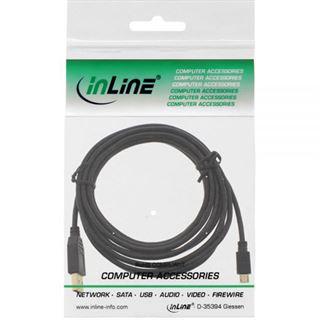 (€1,63*/1m) 3.00m InLine USB2.0 Anschlusskabel USB A Stecker auf