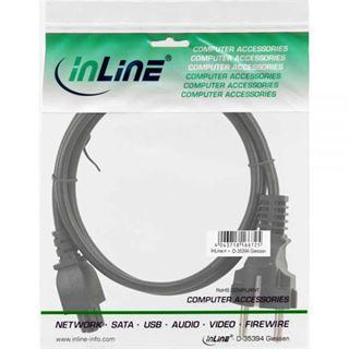 (€4,90*/1m) 1.00m InLine Stromkabel Schutzkontakt Stecker auf