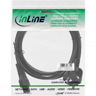 (€9,80*/1m) 0.50m InLine Stromkabel Schutzkontakt Stecker auf