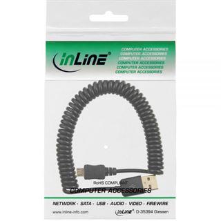 1.00m InLine USB2.0 Anschlusskabel USB A Stecker auf USB mikroB