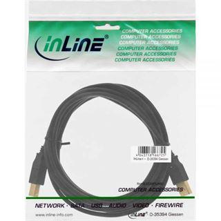 1.80m InLine USB2.0 Anschlusskabel USB A Stecker auf USB B Stecker