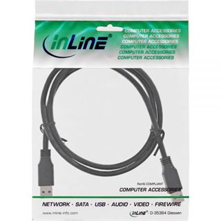 (€4,90*/1m) 1.00m InLine USB3.0 Anschlusskabel USB 3.0 USB A